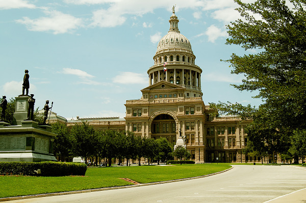 austin-downtown  > Capitol building, view from the outside, in Austin Texas