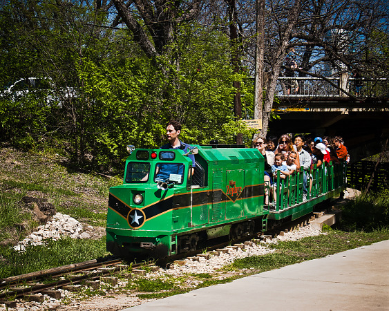 Miniature train in Zilker park, Austin, Texas