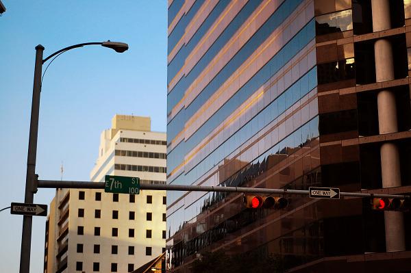 Signal on the Seventh Street, Austin Texas