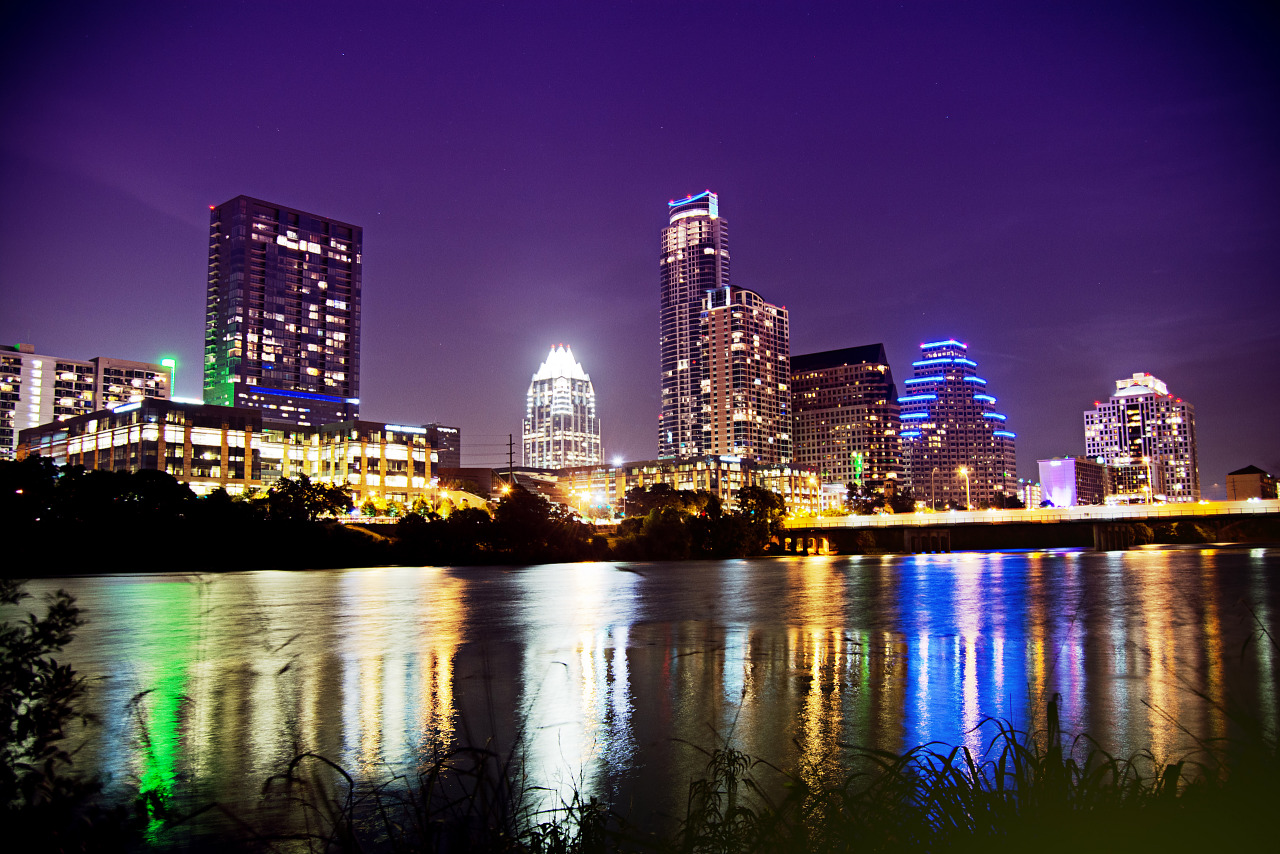 Austin skyline at townlake 2013