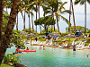 big-island-hawaii > blue lagoon swimmers hilton palmtrees scenery