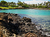 big-island-hawaii > hilton waikoloa rocky beach turquoise water overview