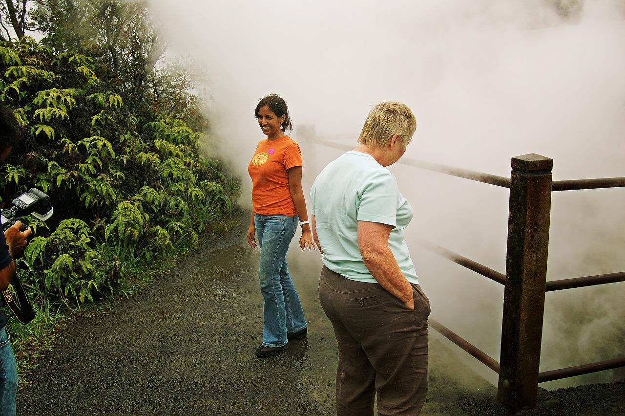 Water vapor vents on Big island volcano