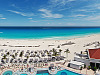 cancun-mexico-2014 > Panorama of the beach and the blue Caribbean sea from Hyatt Zilara