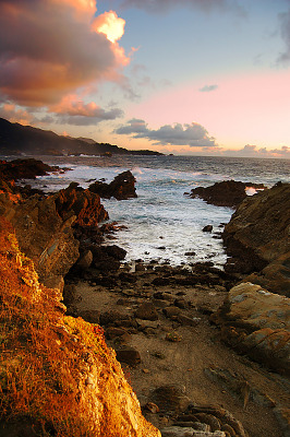 carmel-monterey > Chaotic sunset at Point Lobos