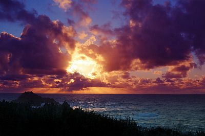 carmel-monterey > Sunset firing up at Point Lobos