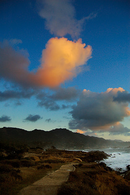 carmel-monterey > Path to the sunset at Point Lobos