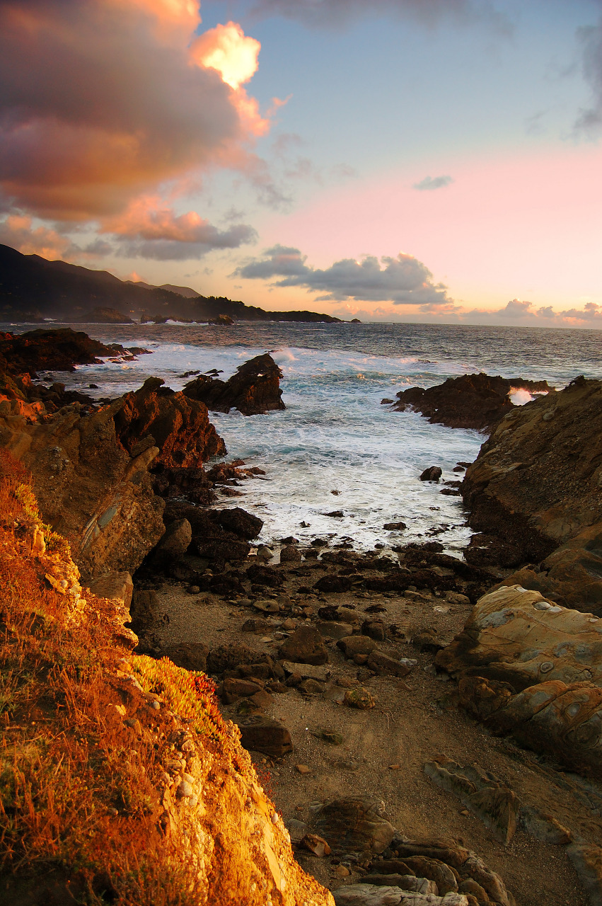 Chaotic sunset at Point Lobos