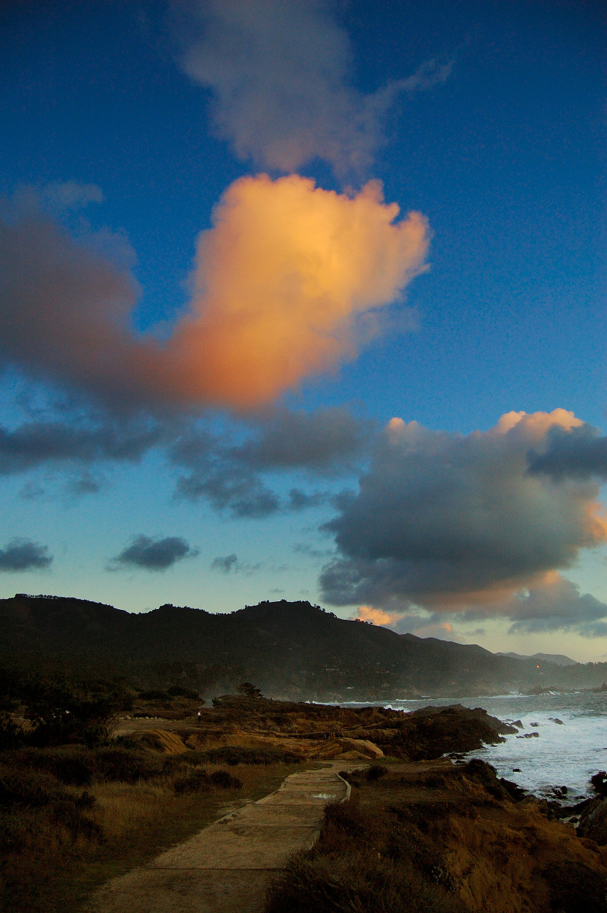 Path to the sunset at Point Lobos