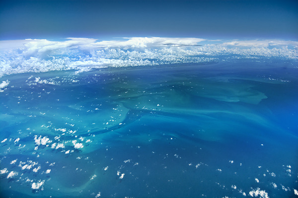 clouds-sky  > Algal bloom on the coast of Texas on the Gulf of Mexico