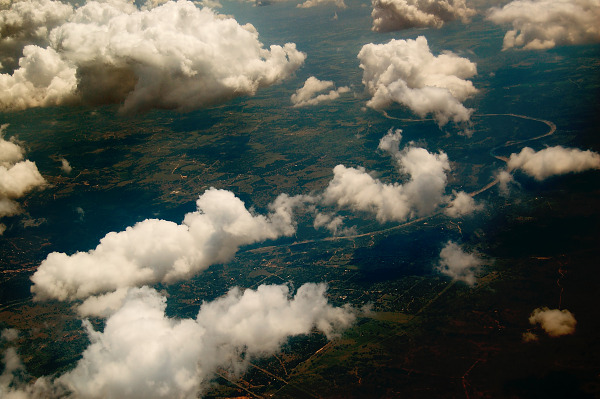 White Clouds flying over the Land, Texas