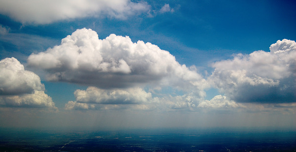 clouds-sky  > Texas Country in Shadows of Bright Clouds