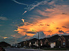 clouds-sky > Moorlynch avenue at sunset, skies of Texas