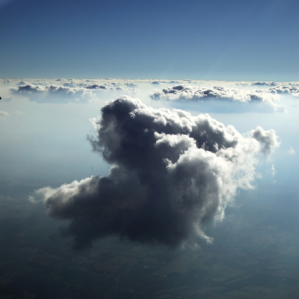 Big Cloud Suspended in a Sea of Fog