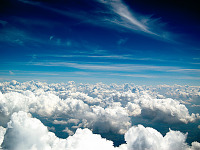 clouds-sky > White Sea of Clouds over Austin Texas