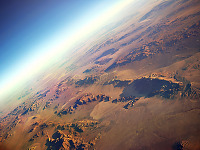 clouds-sky > Earth from above - Desert USA