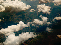 clouds-sky > White Clouds flying over the Land, Texas