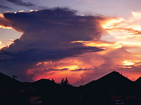 clouds-sky > Explosion at sunset, storm clouds of Texas