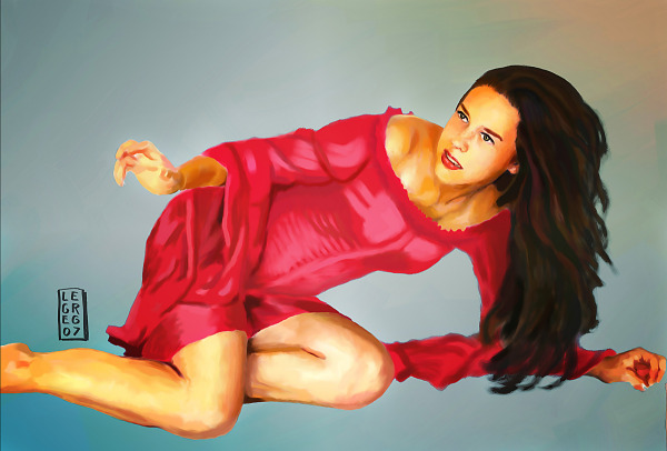 digital-painting  > Girl in a red dress
