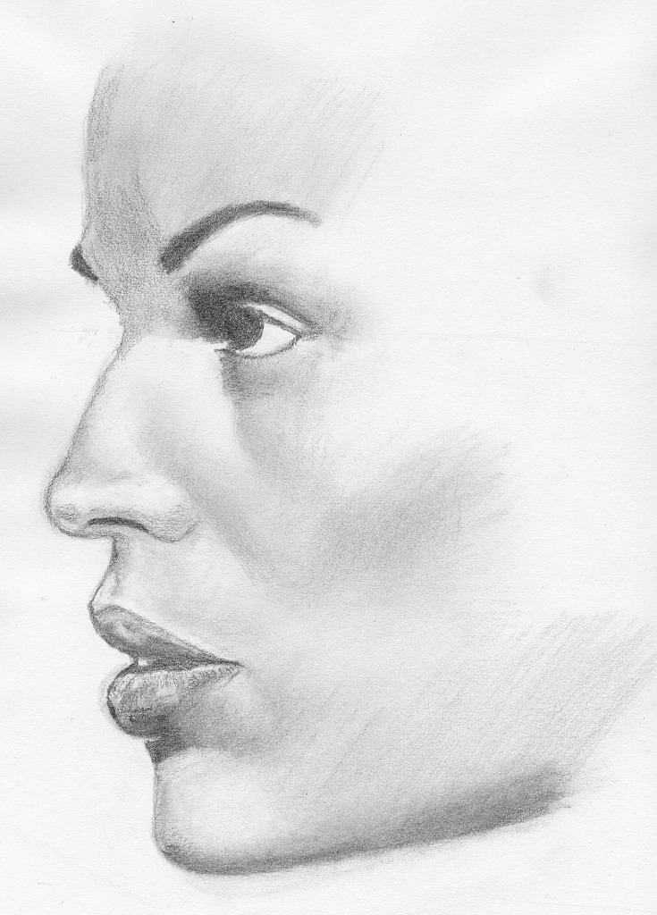 woman face profile drawing drawing sketch pencil Car Tuning Woman Side Profile Drawing