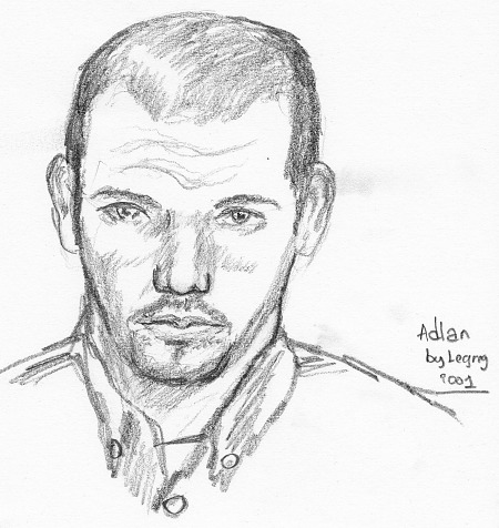 drawing-painting-traditional  &gt; Improvised portrait of Adlan