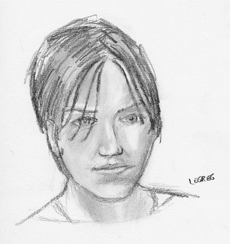 drawing-painting-traditional  > Improvised portrait of Anne