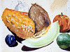 drawing-painting-traditional &gt; Fruits - Still Life