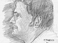 drawing-painting-traditional > Improvised portrait of Francois