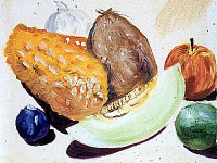 drawing-painting-traditional > Fruits - Still Life