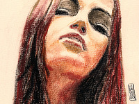 drawing-painting-traditional > Girl face with makeup