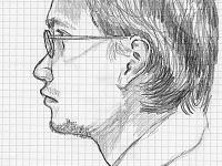 drawing-painting-traditional > Improvised portrait of Hadi