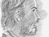 drawing-painting-traditional > Improvised portrait of JS