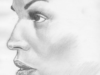 drawing-painting-traditional > Woman profile closeup