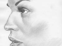 drawing-painting-traditional > Woman profile closeup