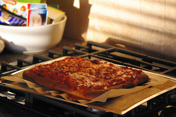 Home made pizza in Pflugerville, Texas