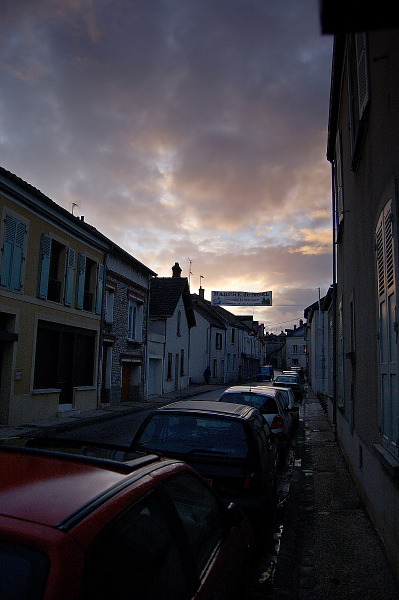 sunrise clouds small street st mammes