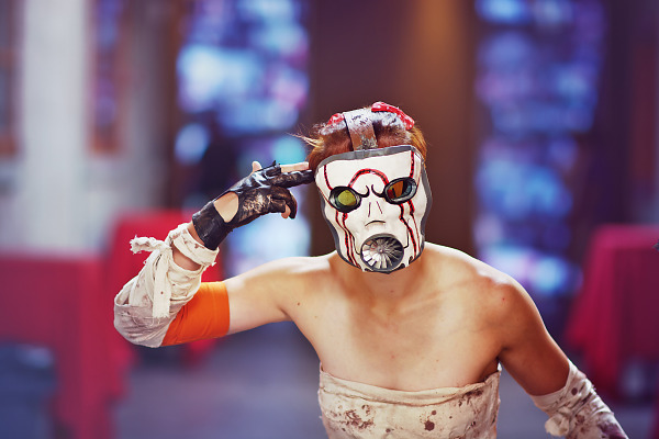 Borderlands Cosplay of a female Psycho