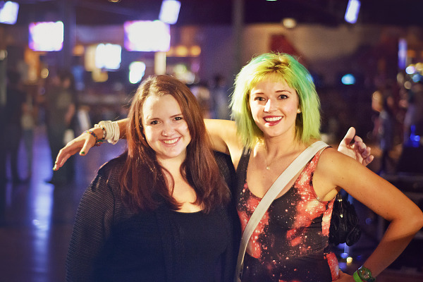 Green hair and Hover hand at Wrap-up party of Gearbox Community Day 2013