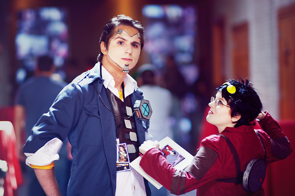 Handsome Jack fights Patricia Tannis from Borderlands cosplay at Gearbox Community Day 2013