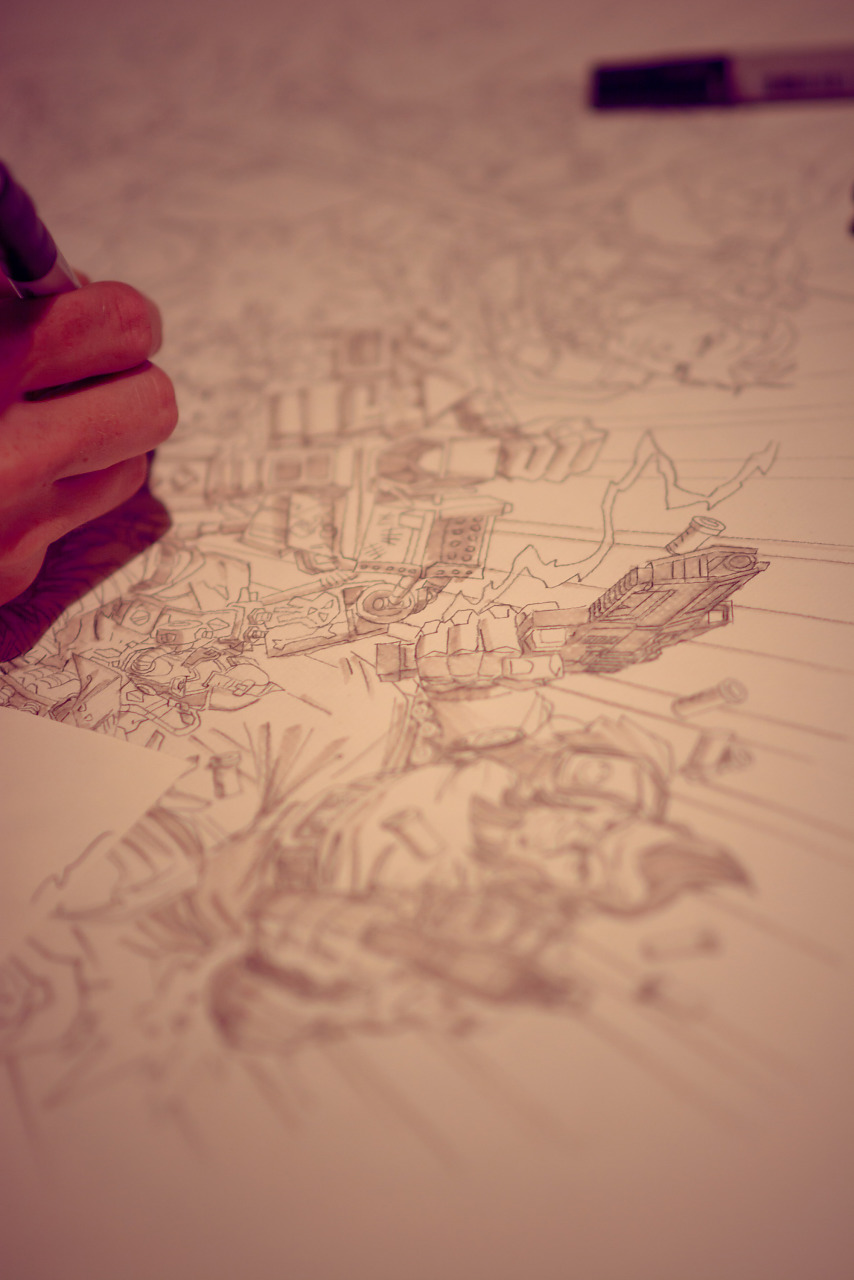 Concept drawing and Borderlands at Gearbox Community Day 2013