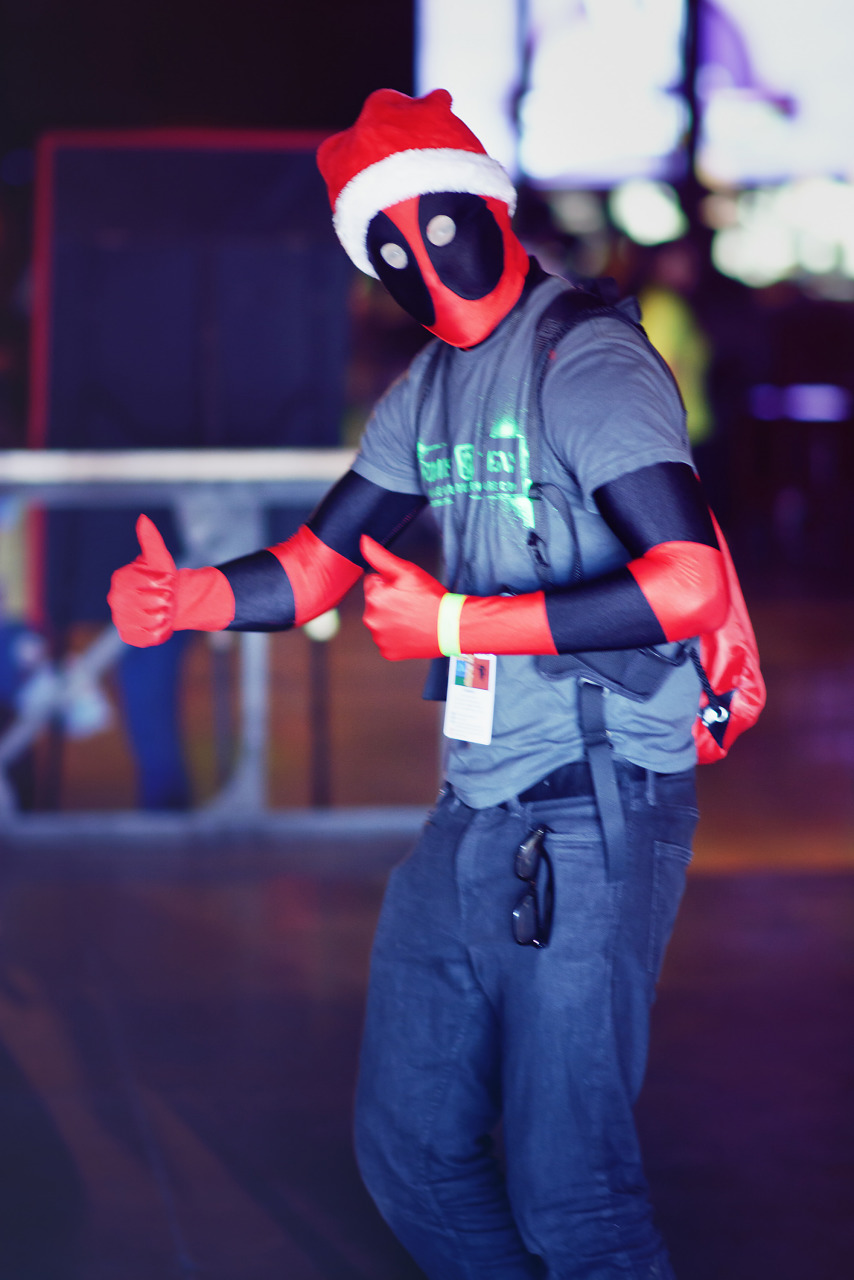 Deadpool cosplay at Gearbox Community Day 2013