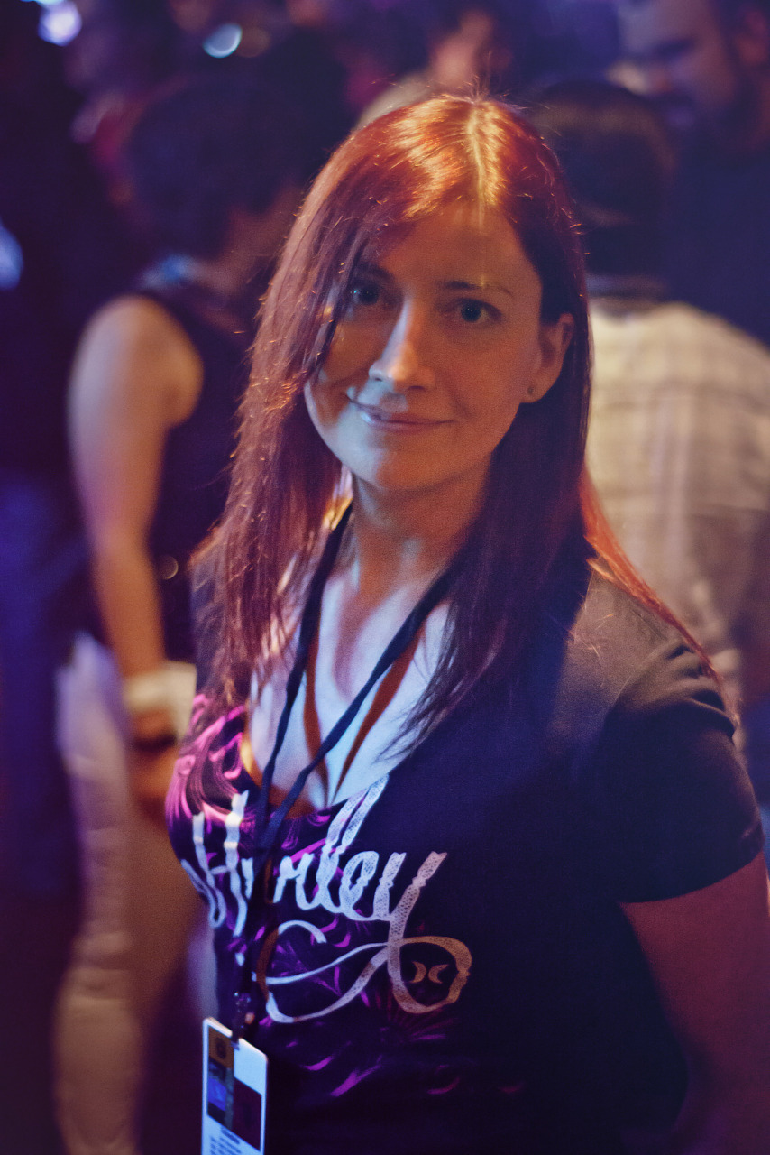 Portrait of Jeri Ellsworth of Technical Illusions at Wrap-up Party 2013