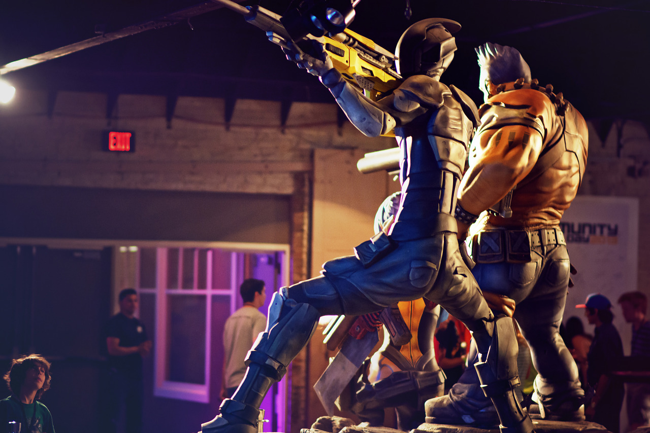 Lifesize statue of Borderlands Characters at Gearbox Community Day 2013