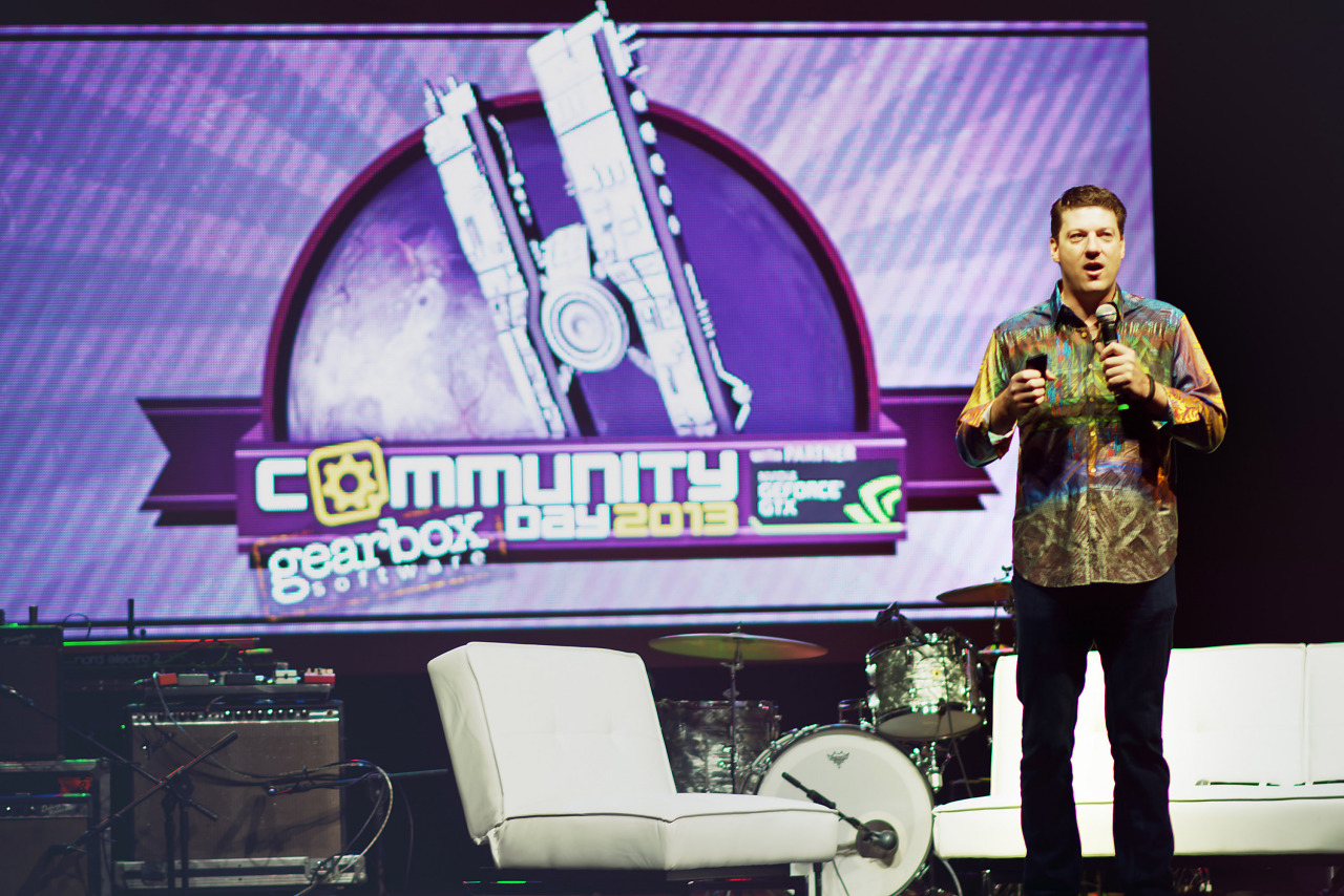 Randy Pitchford owner of Gearbox intro speech for Gearbox Community Day 2013