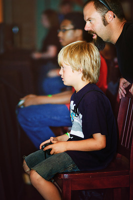 Boy gamer playing at Gearbox Community Day