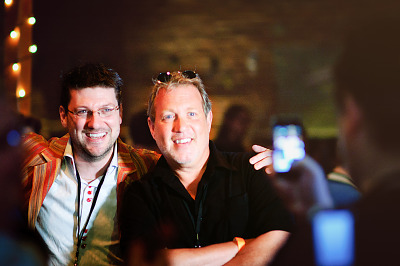 Randy Pitchford and John St Jon at Gearbox Community Day
