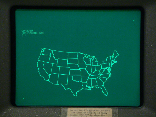 Tektronix display map of the usa with prompt