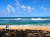 kauai-hawaii &gt; beach kauai blue waves sky p