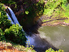 kauai-hawaii > Rainbow at the Wailua falls in Kauai, Hawaii