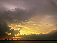 lake-pflugerville-sunset > Painted clouds of the sunset skies